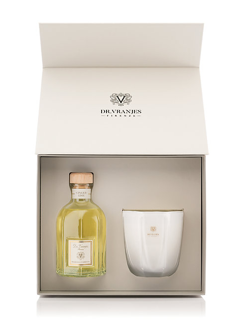 Dr. Vranjes Firenze Ginger Lime Gift Box 500ml Diffuser with 500g Candle