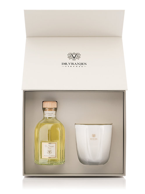 Dr. Vranjes Ginger Lime Gift Box 500ml Diffuser with 500g Candle