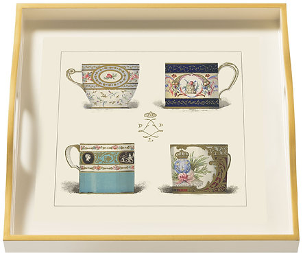 Porcelain, Plates & Cups, Small Cream Tray