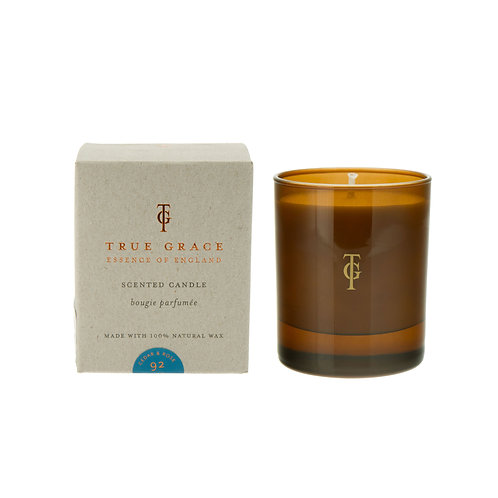 True Grace Burlington Small Candle - Cedar & Rose (150G)