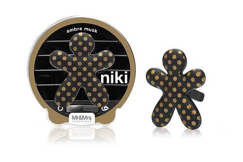 Niki Car Pois M/Black & Gold (Ambre Musk)
