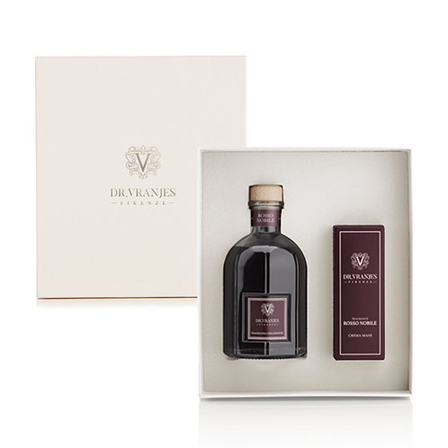 Dr. Vranjes Rosso Nobile 250ml Diffuser + 50ml Hand Cream Gift Set