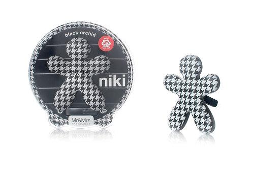 Niki Car Pied De Poule (Black Orchid)