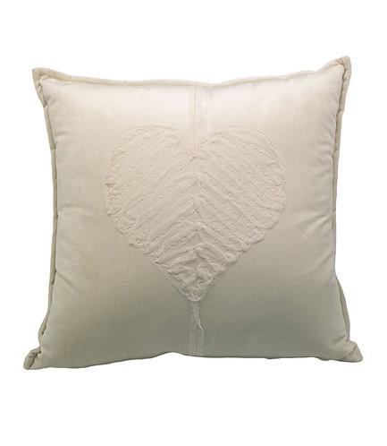 La Perla Home Collection - Heart Cushion, Torrone