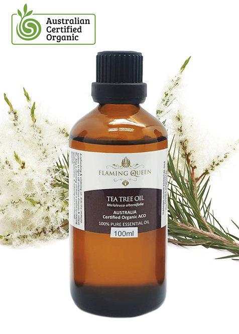 Flaming Queen Essential Oil - Tea Tree Certified Organic 100ML (Australia)