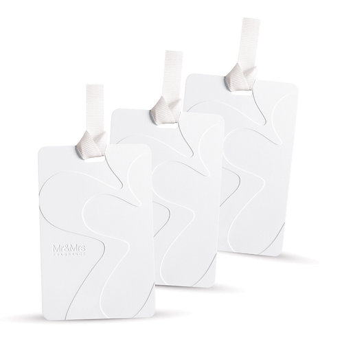 Scented Cards for Closet/Drawers White Lily (Set of 3) - White
