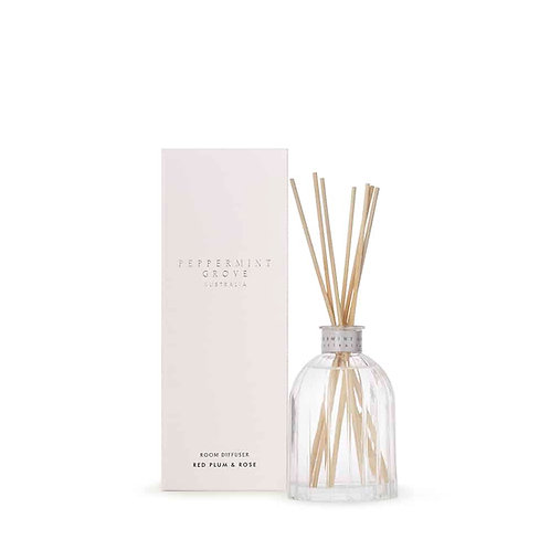 Peppermint Grove Australia 100ml Mini Diffuser - Red Plum & Rose