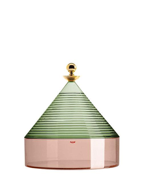 Kartell TRULLO Storage Container - Green Sage/Pink