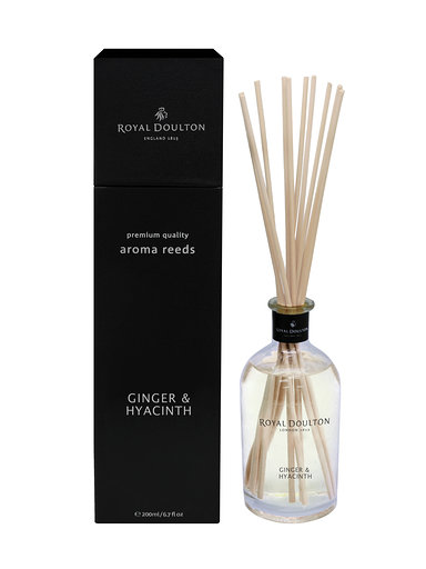Ginger & Hyacinth Aroma Reeds Black Diffuser (200ml)