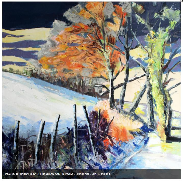 Paysage d'hiver IV 90x90