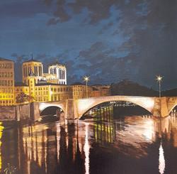 Quai de Saône de nuit