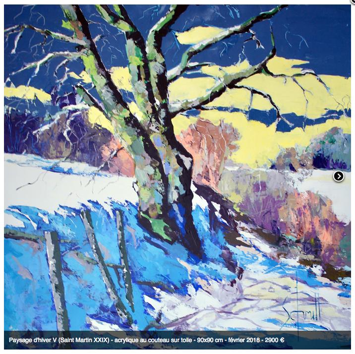 Paysage d'hiver V 90X90