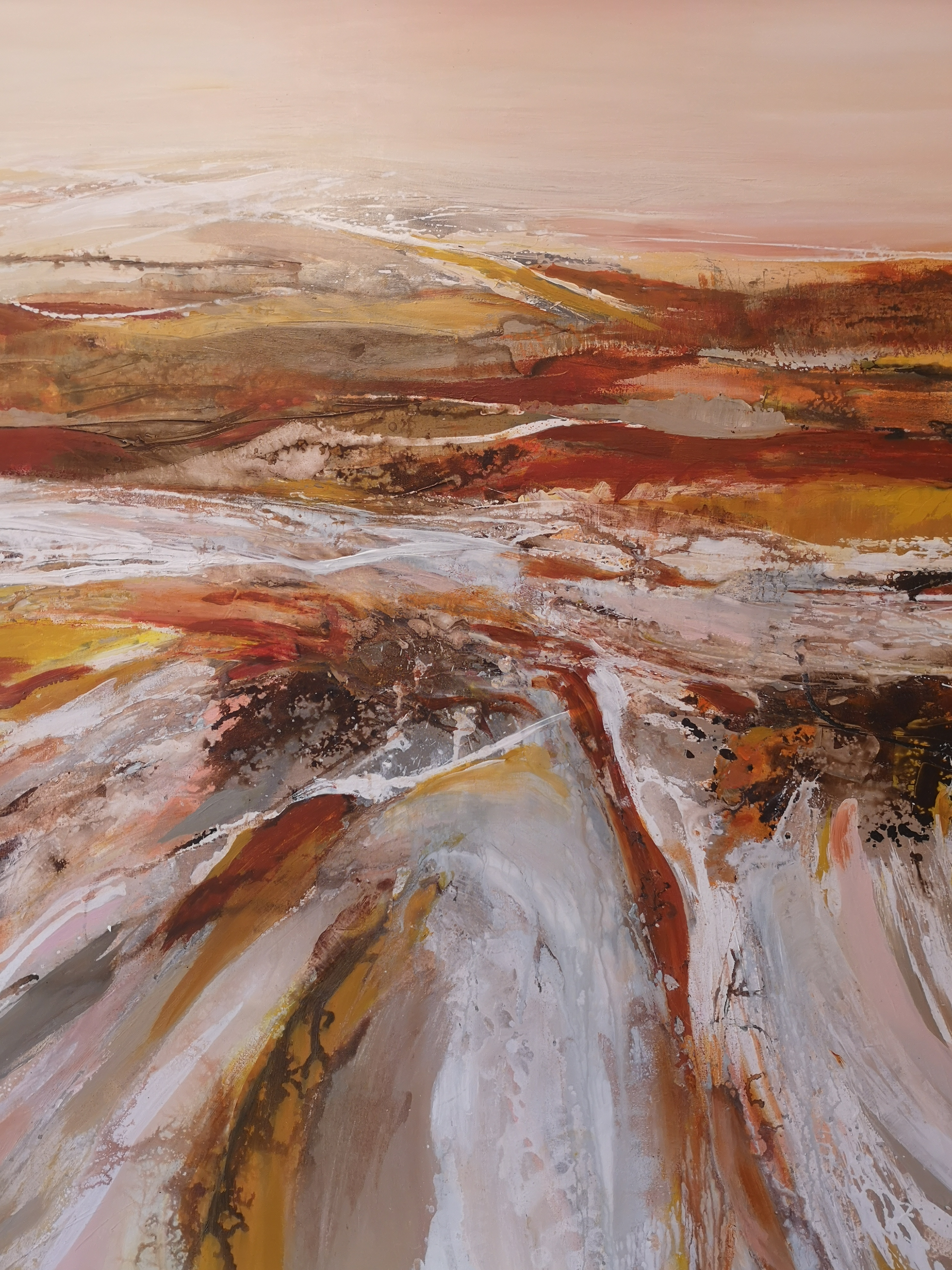 Abstraction paysage d'automne
