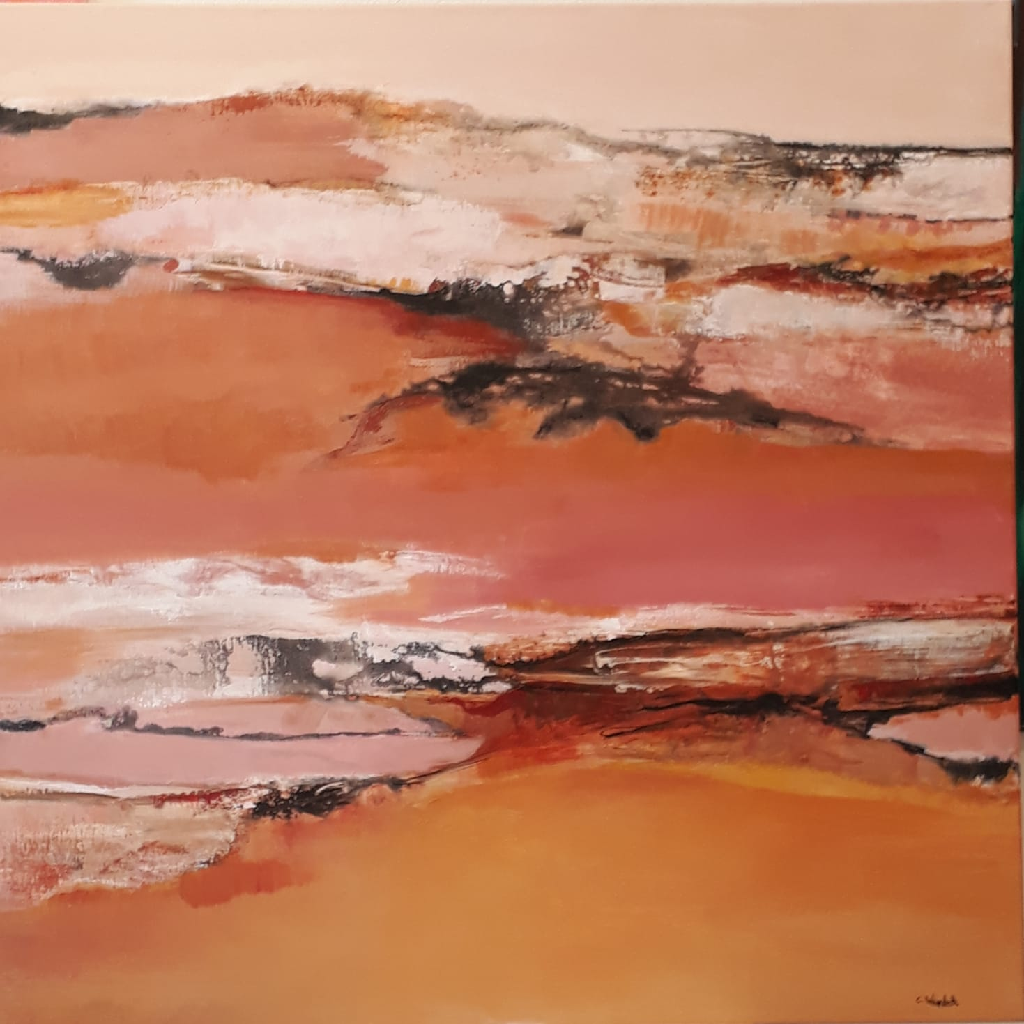 Abstraction orange