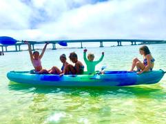 Kids on kayak 2