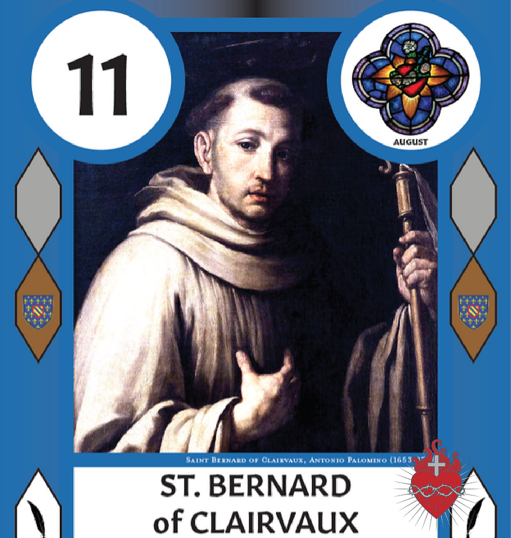 St Bernard of Clairvaux SaintCard