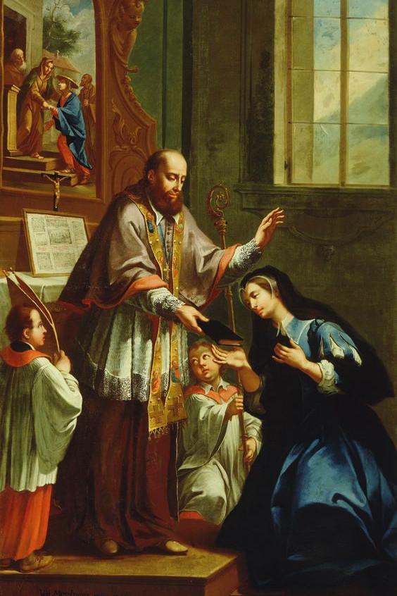 St. Francis de Sales Instructing