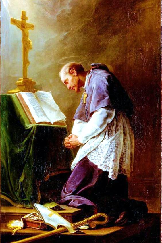 St Francis de Sales Before the Altar