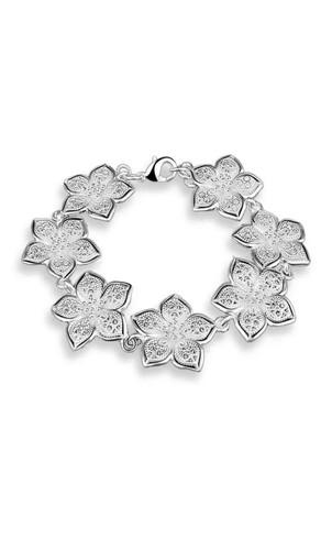 Wild Prairie ou Cherokee Rose Fleur 925 Sterling Silver Charm Pendentif
