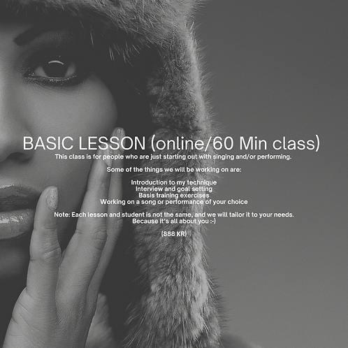 Vocal Coaching Basic