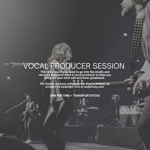 Vocal Coaching Producer Session
