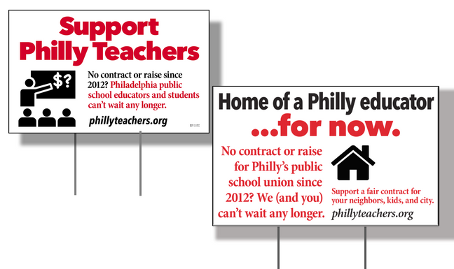 Show your support with a lawn or window sign!