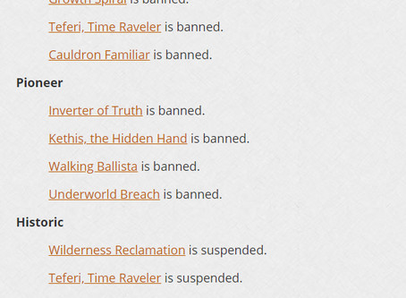Banned and Restricted - August 3, 2020