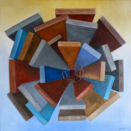Murs - Huile sur sable collé - 70x70 cm - Prix: 400 €