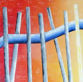Aujourd'hui - Huile sur toile - 100x40 cm - Prix: 320 €