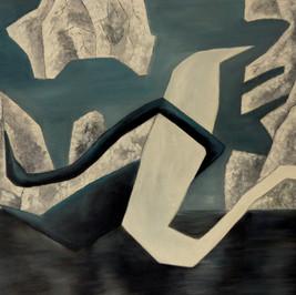 La danse des cygnes - Huile sur toile - 80x55 cm - Prix: 300 €