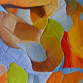 Rencontres impromptues - Huile sur fond marouflé - 41x27 cm - Prix: 110 €