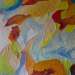 Les mondes merveilleux d'Elise - Huile sur fond marouflé - 50x35 cm - Prix: 140 €