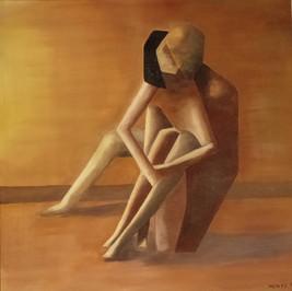 Intimité - Huile sur toile - 60x60 cm - Prix: 250 €