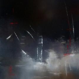 Tempête - Huile sur toile - 60x50 cm - Prix: 200 €