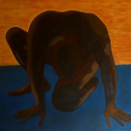 Le danseur - Huile sur sable collé - 70x70 cm - Prix: 400 €