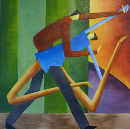 Tango - Huile sur toile - 60x50 cm - Prix: 200 €