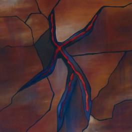 Le filon  - Huile sur sable collé - 90x75 cm - Prix: 500 €