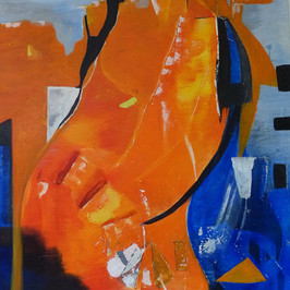 Eclosion - Huile sur toile - 75x60 cm - Prix: 350 €