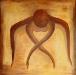Danse - Huile sur toile - 65x65 cm - Prix: 300 €