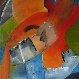 Soleil d'été - Acrylique sur toile - 80x60 cm - Prix: 350 €
