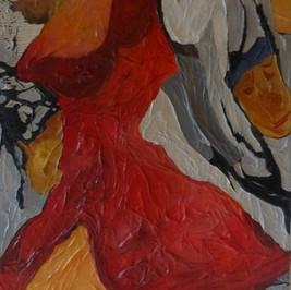 Les admirateurs - Huile sur fond marouflé - 70x40 cm - Prix: 200 €