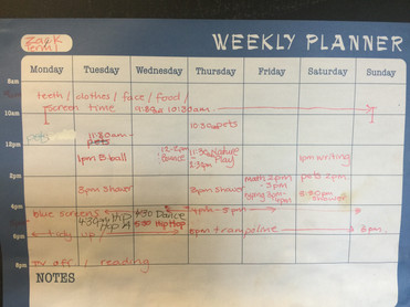 Home Education Weekly Plan