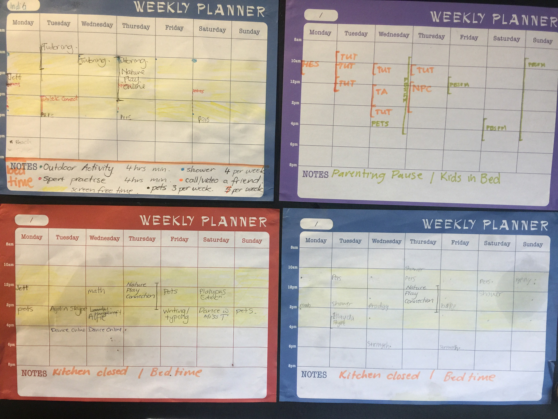 Family Schedules
