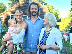 Zuzana Buchwald with baby Lulu, Ludi and Willie Salm