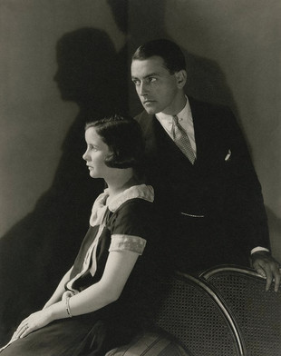 with 1st wife Mary Hay