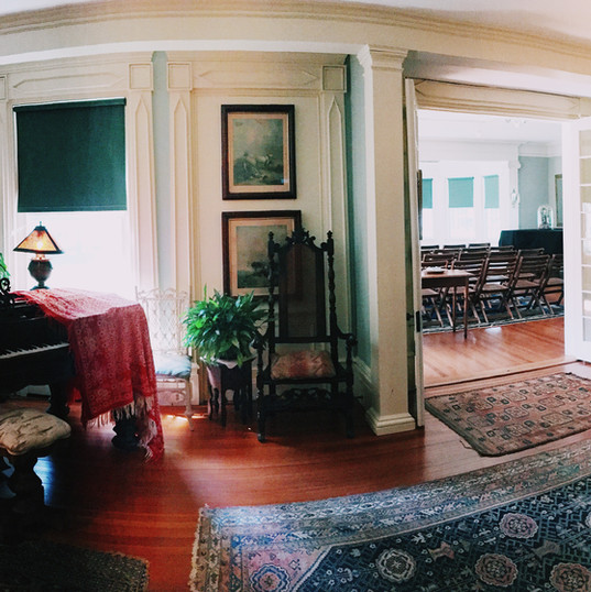 During Samuel Parrish's role as Southampton village mayor from 1901 to 1903, he took a liking to his South Parlor in place of spare meeting rooms, around the house. He preferred to use this room to not only hold important meetings, but to also welcome and entertain his friends and family informally. An invitation to spend an evening in the South Parlor was rarely, if ever, refused.