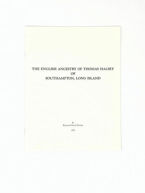 The English Ancestry of Thomas Halsey of Southampton, Long Island