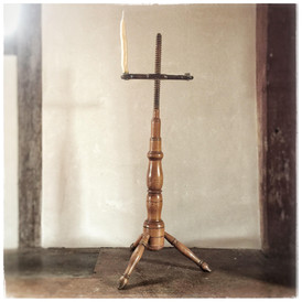 Adjustable Wooden Candle Stand, New England, c. 1750