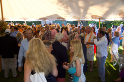 Packed Party Tent