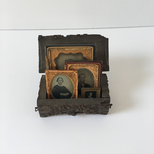 During the 17th and 18th centuries, small pictures of family and loved ones were painted on vellum, copper, and ivory. These small pictures, also known as miniatures, faded in popularity with the invention of the camera in 1839. Miniatures were used to connect people long distance, as kings would send miniatures of their daughters to possible suitors, soldiers would keep a miniature of their family during war, and wives would keep miniatures of their husbands while they were away. With photography, it became quicker and easier to have pictures on hand, so families would use the portraits as mementos, or if they were small enough, wear them as jewelry. The miniatures are located in the Dining Room on the first floor.